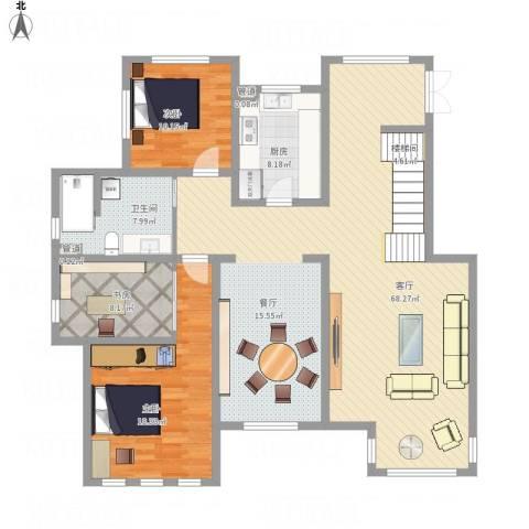 御龙仙语湾3室1厅1卫1厨137.03㎡户型图