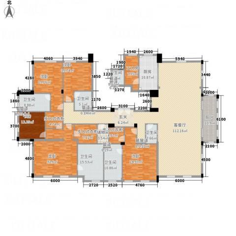 绿城玉兰花园・御园5室1厅6卫1厨392.00㎡户型图