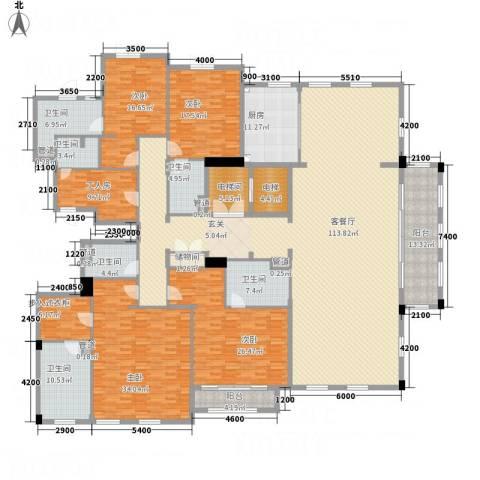 绿城玉兰花园・御园4室1厅6卫1厨368.00㎡户型图