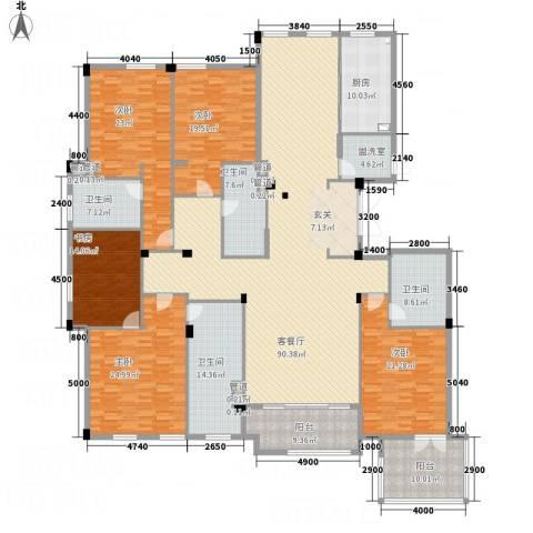 绿城玉兰花园・御园5室2厅4卫1厨328.00㎡户型图