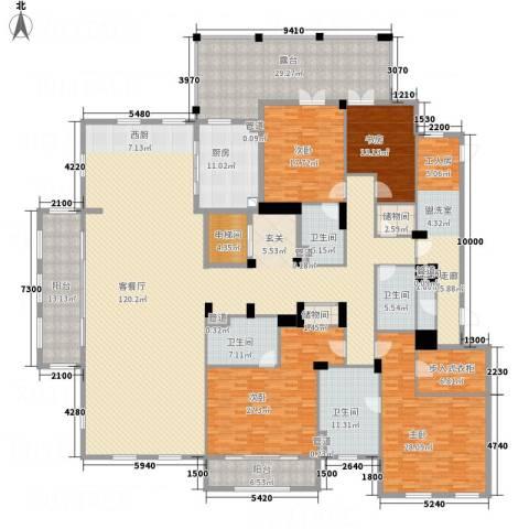 绿城玉兰花园・御园4室1厅5卫1厨364.00㎡户型图