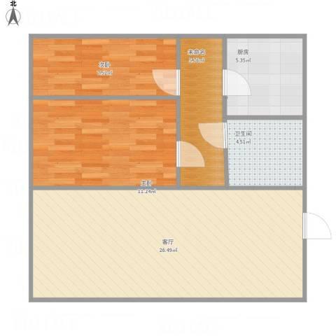 君恒雅居2室1厅1卫1厨82.00㎡户型图