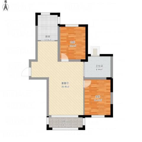 卓扬中华城2室1厅1卫1厨97.00㎡户型图