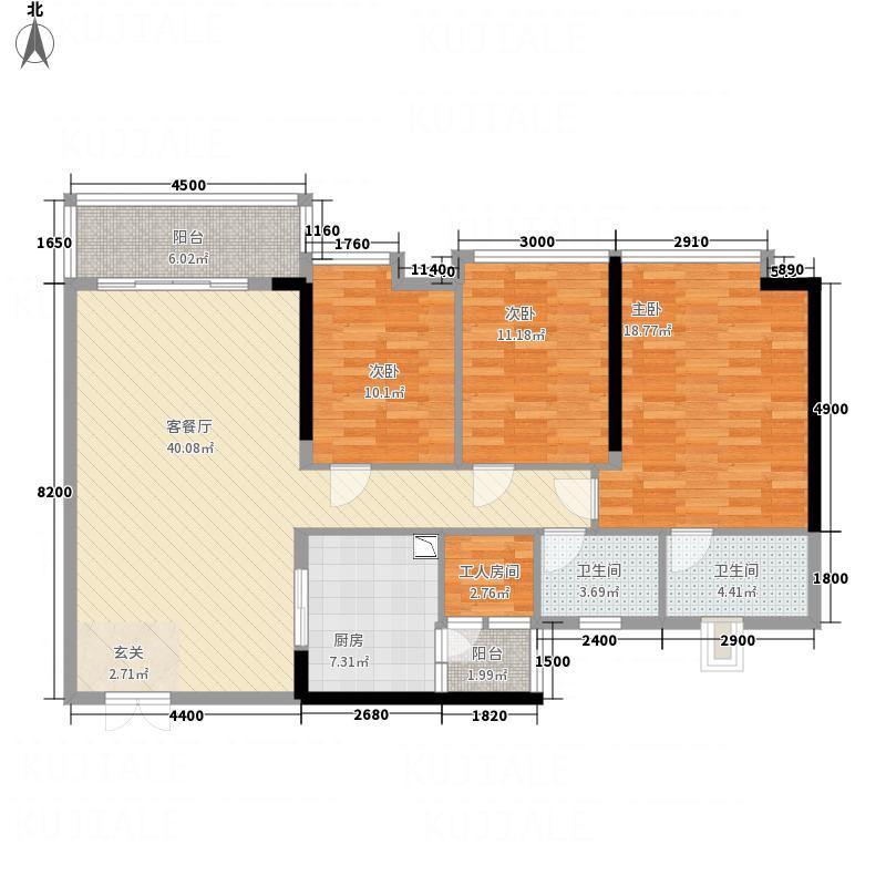 百仕达乐湖142.00㎡户型3室