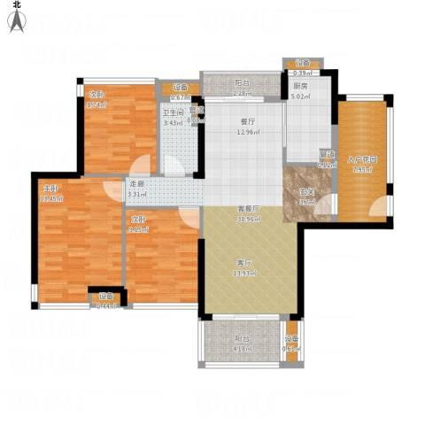 爱ME公园3室1厅1卫1厨126.00㎡户型图