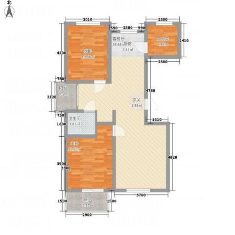 逸城・浅水湾2室1厅1卫0厨104.00㎡户型图