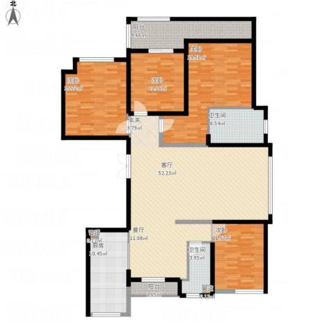 长江越领4室1厅2卫1厨203.00㎡户型图
