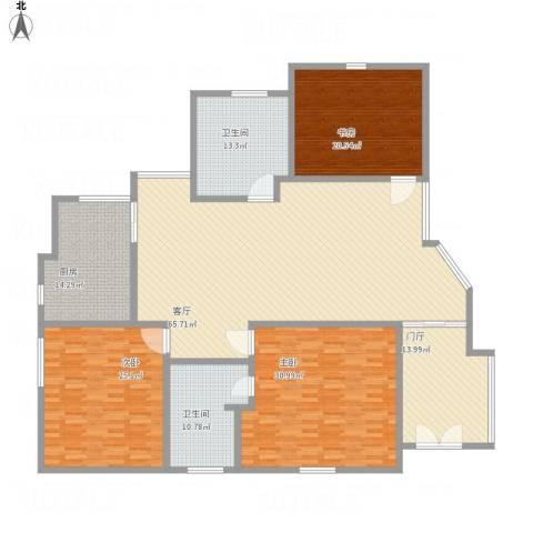 蓝堡湾3室1厅2卫1厨268.00㎡户型图