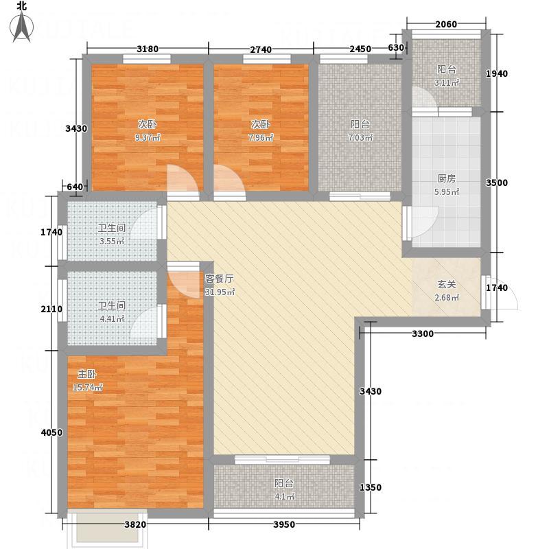 建业・桂园132136.20㎡C户型3室2厅2卫1厨