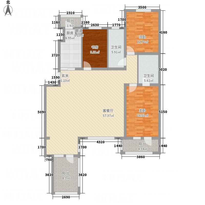 宏运・凤凰新城二期142.70㎡F02-2户型3室2厅2卫1厨