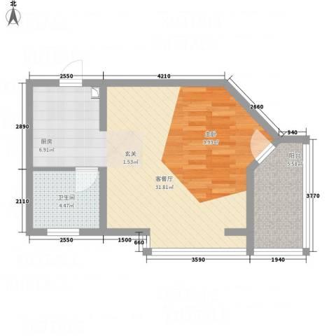 侨光苑1厅1卫0厨61.00㎡户型图