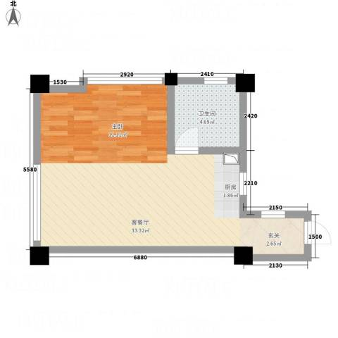 侨光苑1厅1卫0厨54.00㎡户型图