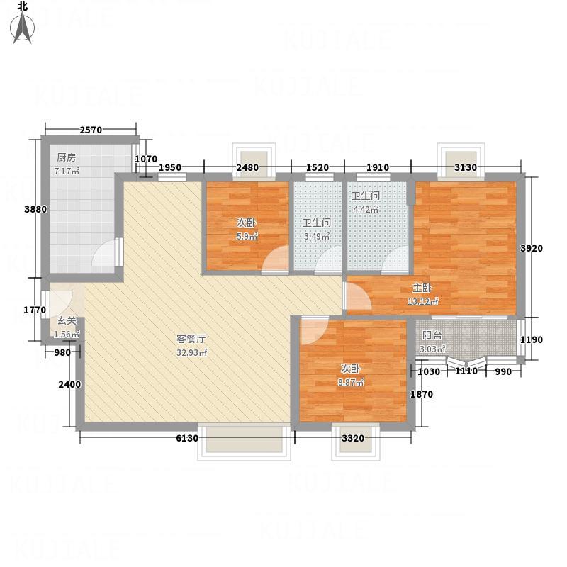 金桂轩B型户型3室2厅2卫1厨