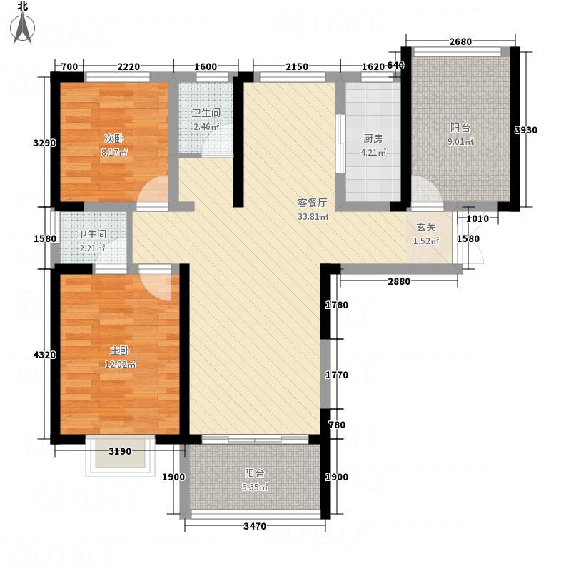 大唐国际城113.50㎡A1户型3室2厅2卫1厨