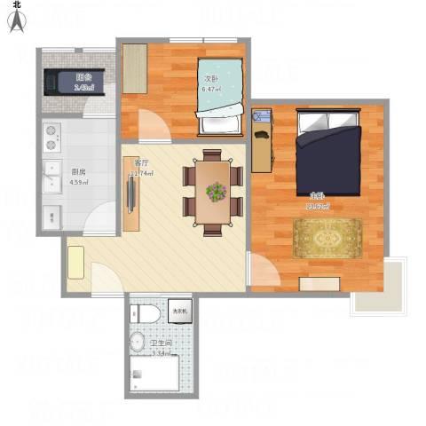 东惠家园donghui92室1厅1卫1厨58.00㎡户型图