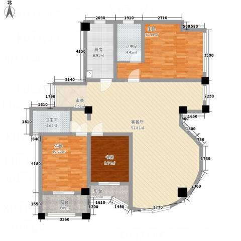 侨光苑3室1厅2卫1厨162.00㎡户型图
