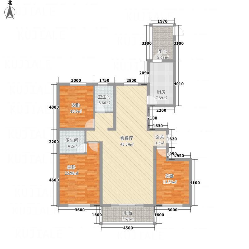 金水湾158.70㎡户型3室2厅2卫1厨