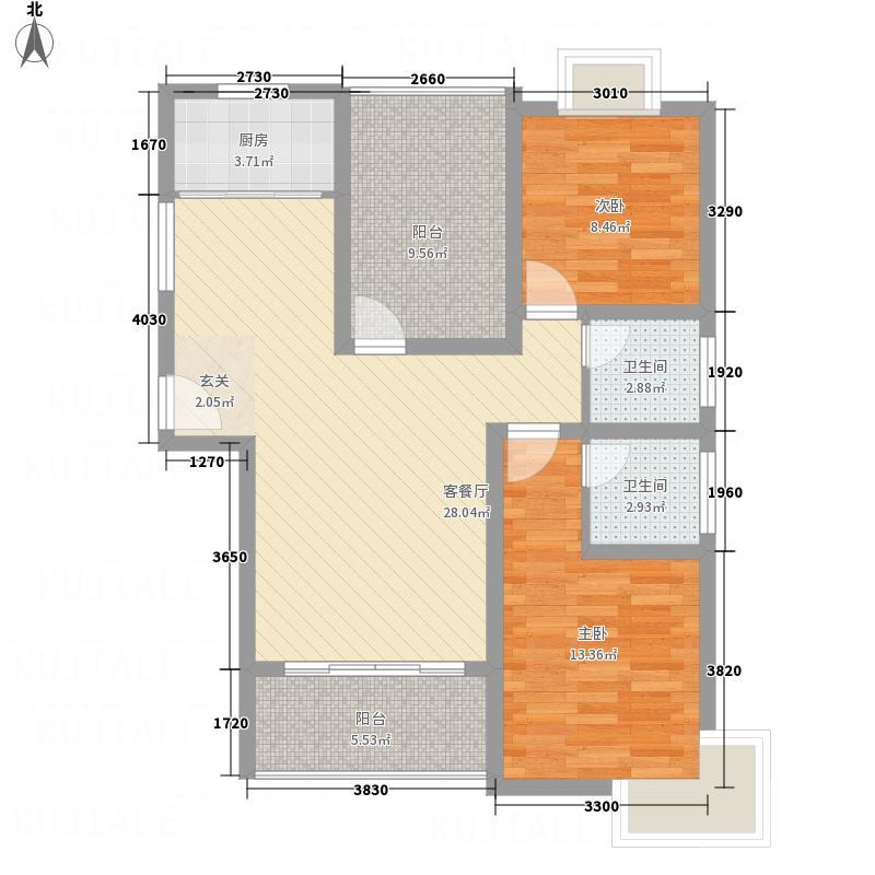 大儒世家1.15㎡G7户型3室2厅2卫1厨