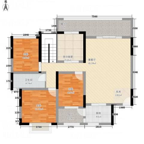 一品名门云墅3室1厅1卫1厨149.00㎡户型图