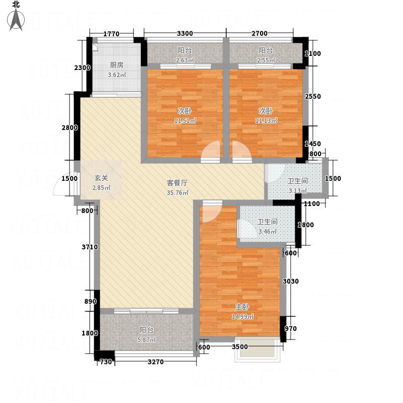 福达・御福苑127.87㎡A-3户型3室2厅2卫1厨