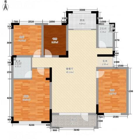 海泉湾・霞光府4室1厅2卫1厨118.63㎡户型图