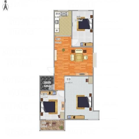 燕云台3室1厅1卫1厨126.00㎡户型图