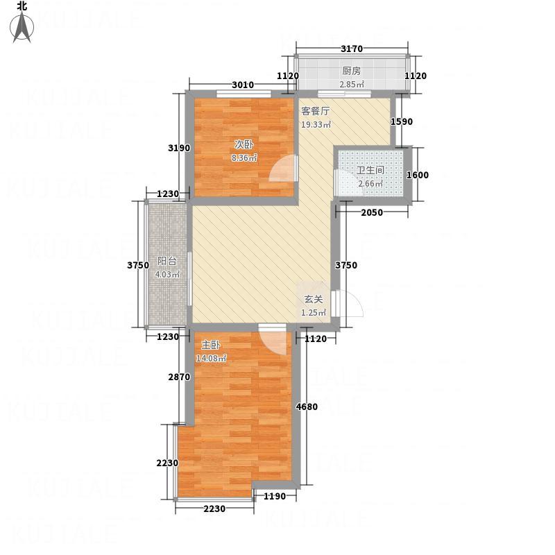 育才馨园271.52㎡户型2室1厅1卫1厨