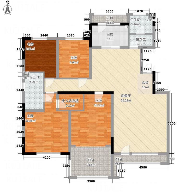 中海金域中央168.00㎡C户型4室2厅2卫