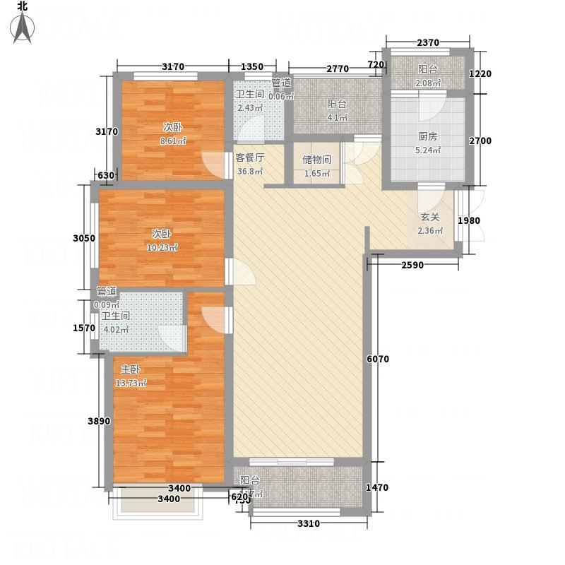 公园壹号135.38㎡魔变3+1自由空间户型3室2厅2卫1厨