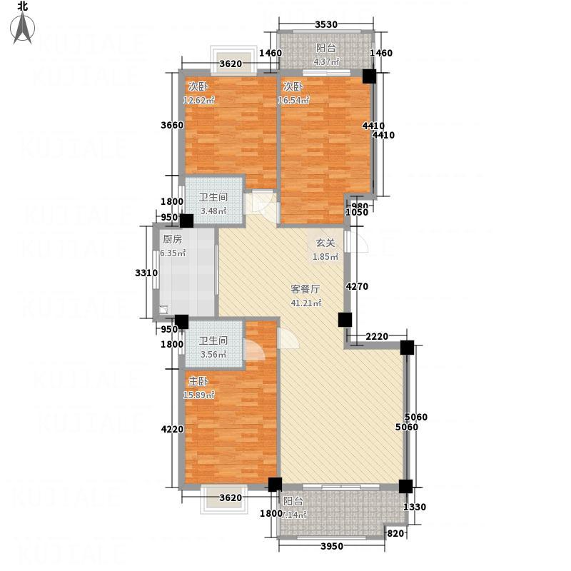 恒润华侨新城12157.20㎡12楼户型4室2厅2卫1厨