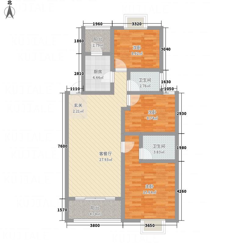 富达・绿家园3116.57㎡户型3室2厅2卫1厨