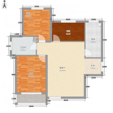 祥和嘉园3室1厅1卫1厨114.00㎡户型图