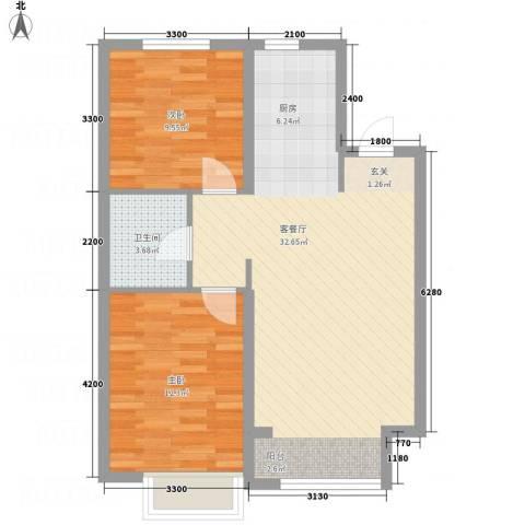 锦联・经典名郡2室1厅1卫0厨82.00㎡户型图