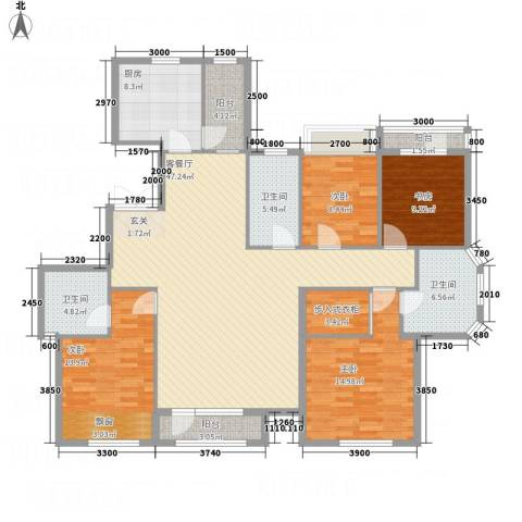 锦联・经典名郡4室1厅3卫1厨183.00㎡户型图