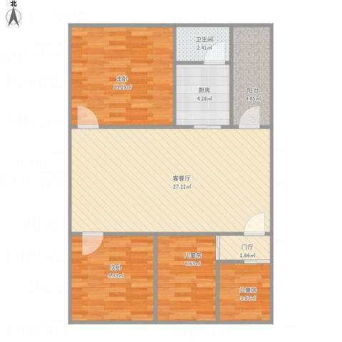 盛嘉苑4室1厅1卫1厨99.00㎡户型图