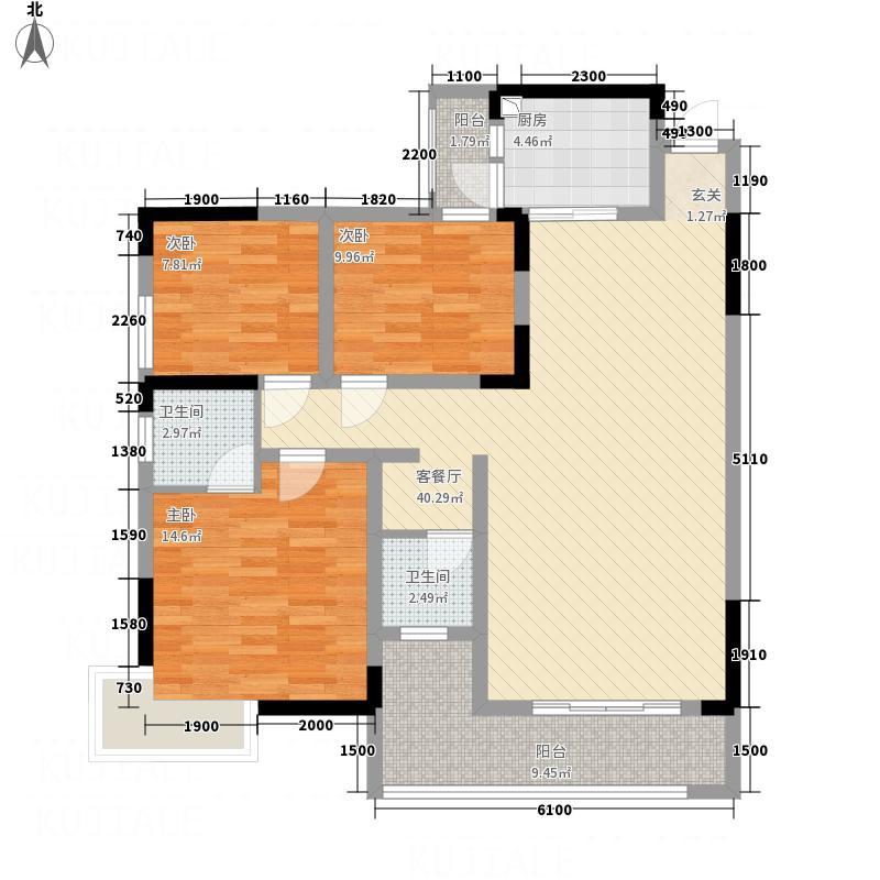 龙华世纪城龙华世纪城12#c3室2厅2卫1厨户型10室