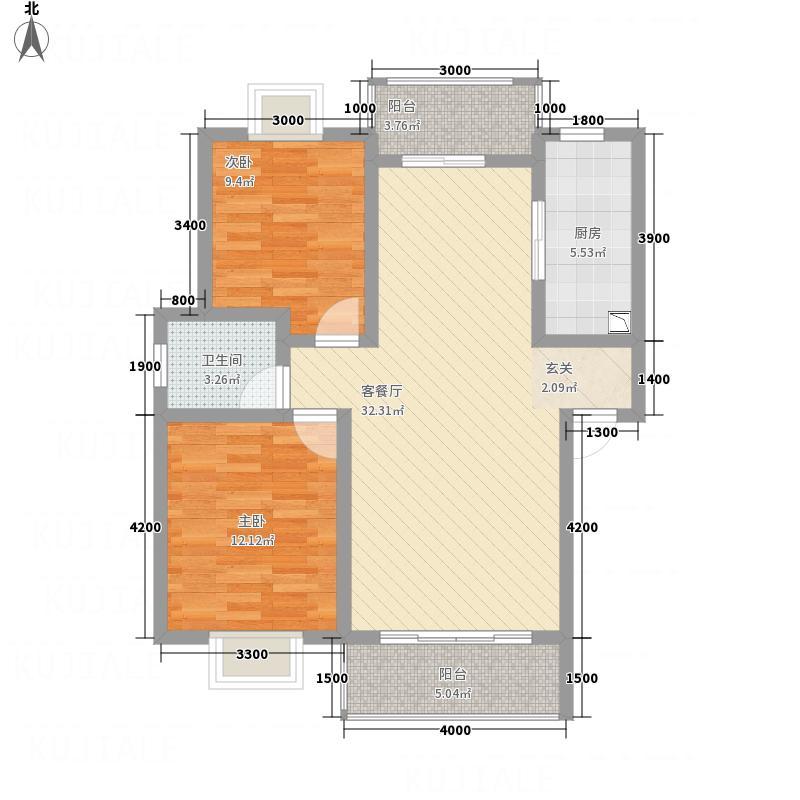 吉祥花苑3.00㎡B1户型2室2厅1卫1厨