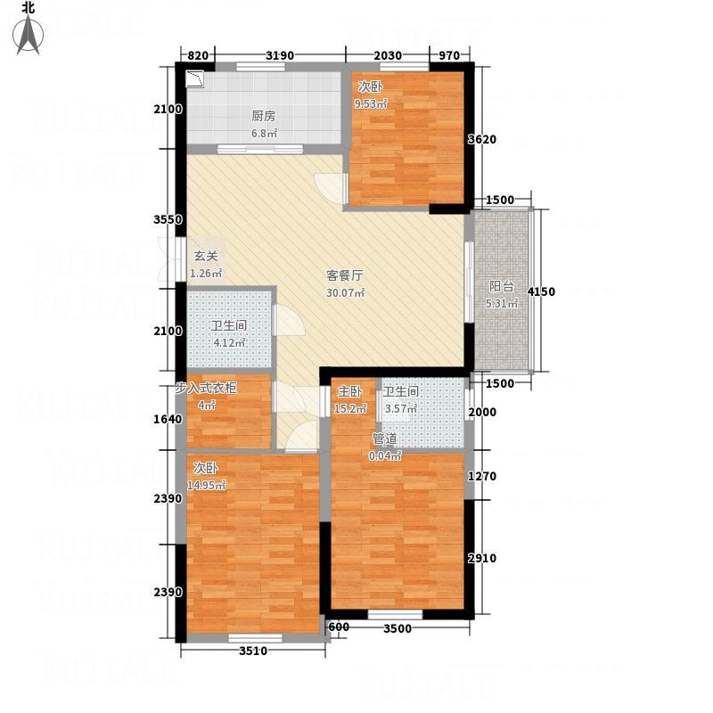 永利广场141.00㎡141户型3室2厅2卫1厨