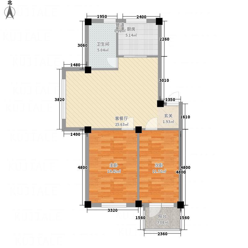 万意空间8.00㎡户型2室2厅