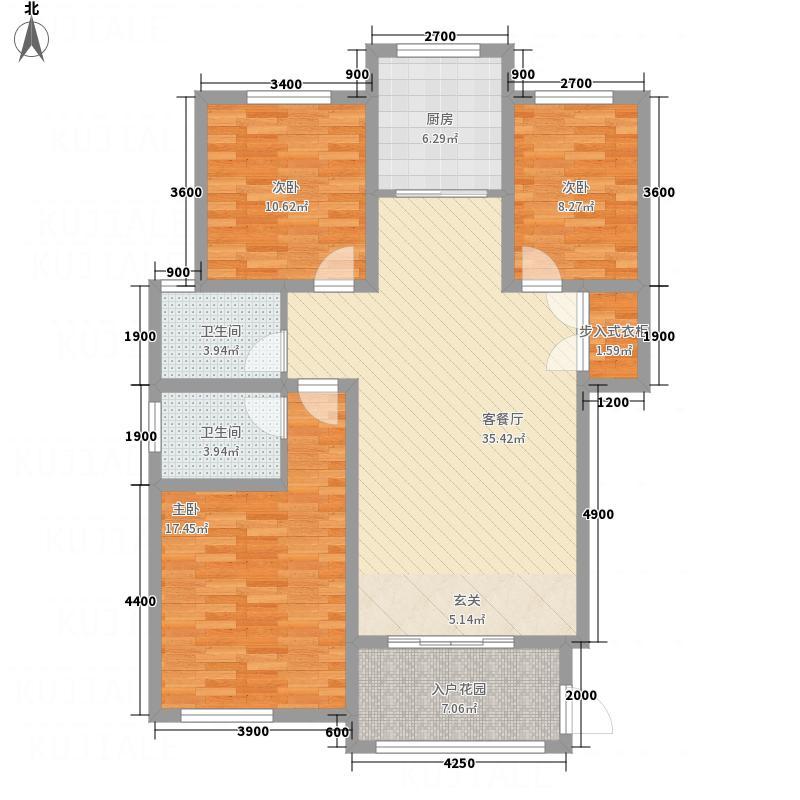九栋洋楼3期131.10㎡E4/5A1户型3室2厅2卫1厨