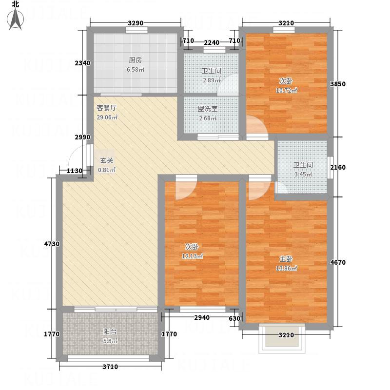 江南花园125.80㎡C5-2户型3室2厅2卫1厨