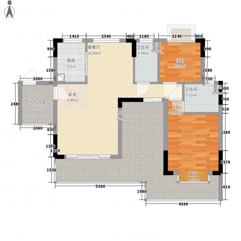 鼎湖森邻112.10㎡M1栋4层01户型2室2厅2卫1厨