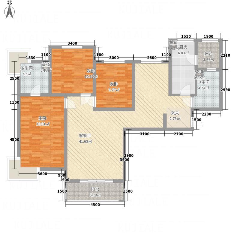 山水兴城155.00㎡中和户型3室