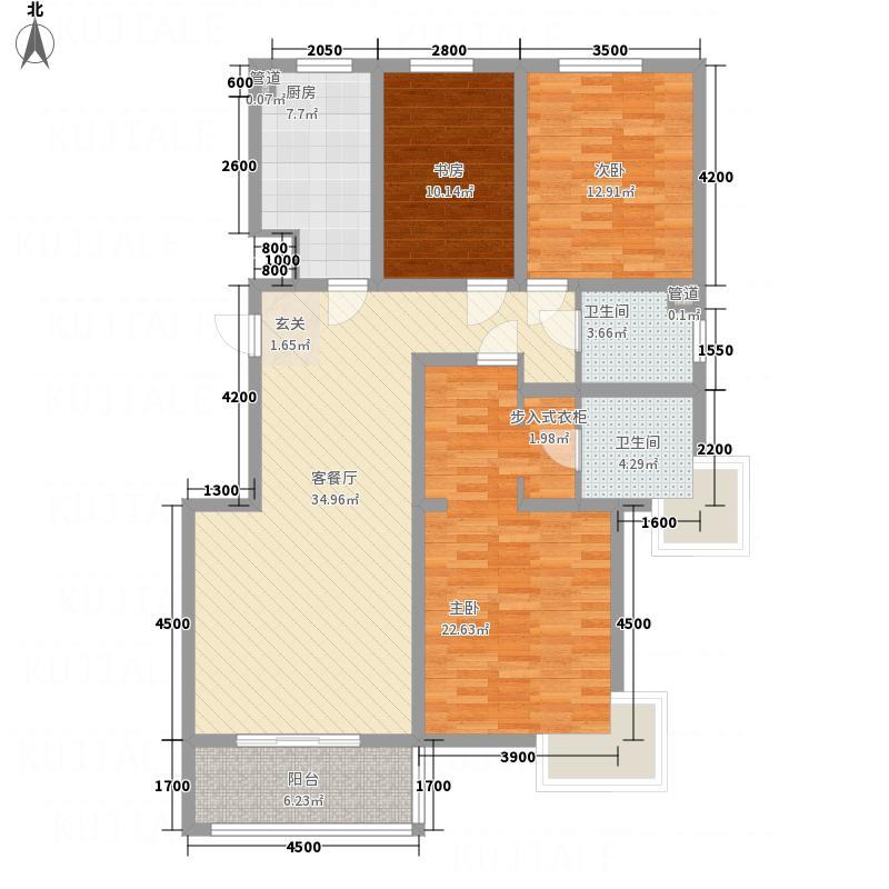 山水兴城142.00㎡中和户型3室