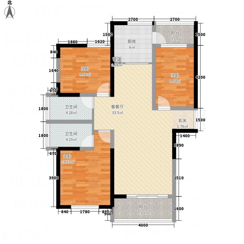 景泰瑞园125.28㎡B2-1(A)户型