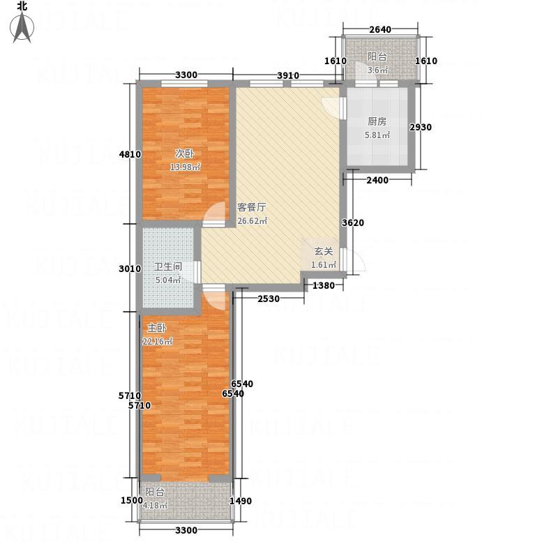 江南帝景15.82㎡A栋4单元D3户型2室1厅1卫1厨