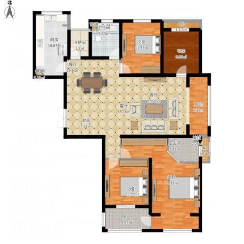 长江越领4室1厅5卫3厨199.00㎡户型图