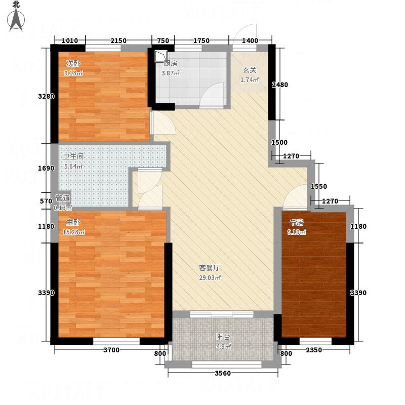永利广场11.00㎡110户型3室2厅1卫
