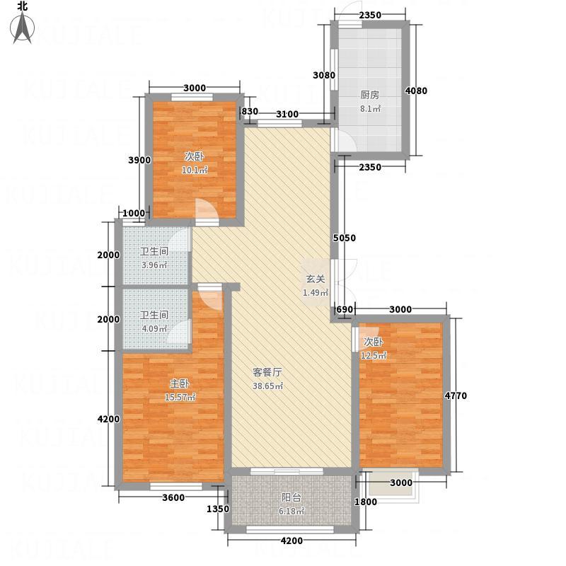 名士豪庭153.00㎡L户型3室2厅2卫1厨