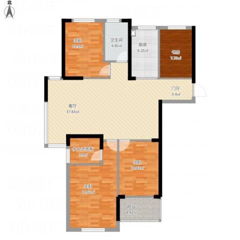 中凯银杏湖4室1厅1卫1厨144.00㎡户型图